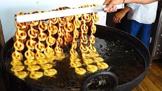 Indian street food - Sweetest Dessert Urad Dal Jalebi