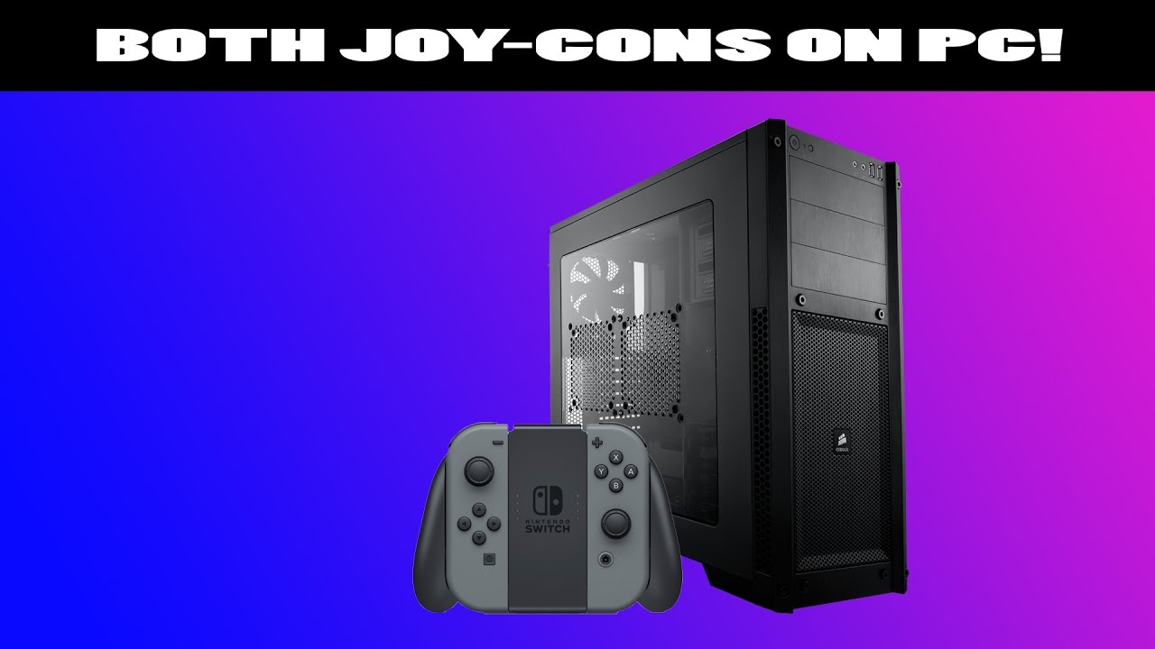 How to use both Joy-Cons as one controller on PC!