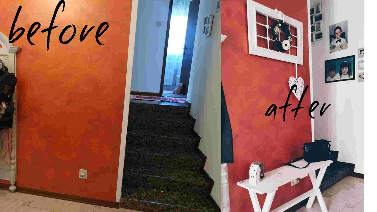 HOME MAKEOVER AND DIY ingresso shabby chic || Part 1 - YouTube