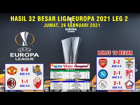 Hasil Liga Europa Tadi Malam 32 Besar Leg 2 ~ Manchester United Vs Sociedad UEFA Europa League 2021