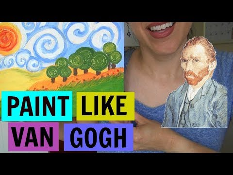 ASMR: How to Paint Like Van Gogh | Craft Video | Painting With Acrylics