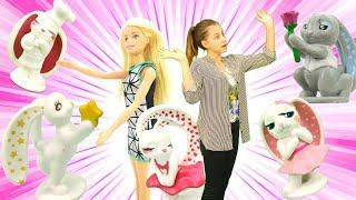 Барби и зайки Piglette - Шоколадные сюрпризы Чупа Чупс