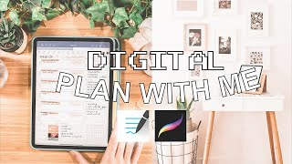 HOW TO DIGITALLY PĻAN ON THE IPAD PRO 2020 | Digital plan with me using Procreate and Goodnotes 5