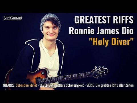 "Metal Riff Tutorial: ""Holy Diver"" - Ronnie James Dio - Riff Nr: 51"