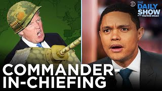 Download lagu Trump's Attempts at Commander-In-Chiefing | The Daily Show