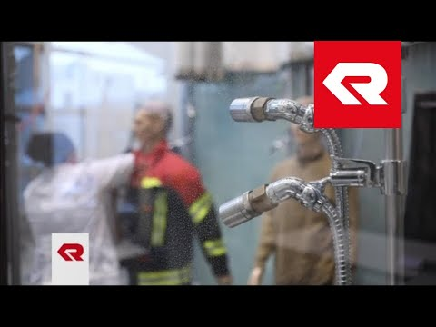 FIRE FLEX protective suit – Rain test