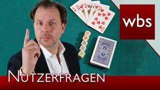 Nutzerfragen: In welchem Rahmen ist privates Glücksspiel legal? | Rechtsanwalt Christian Solmecke