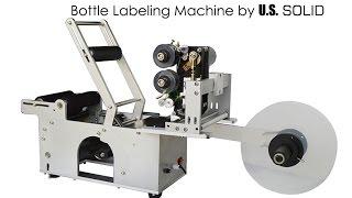 Semi-automatic Bottle Labeling Machine