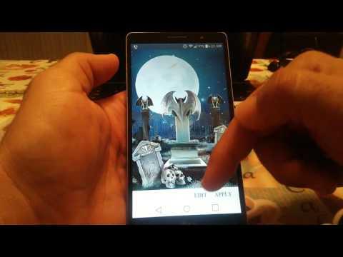 Best Halloween live wallpaper LG g stylo - YouTube