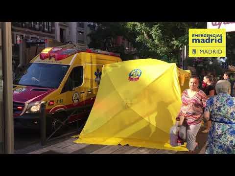 Doce heridos leves al explotar un ordenador portátil en el Metro de Madrid