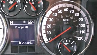 How To Reset The Oil Change Due Message On A Dodge Ram