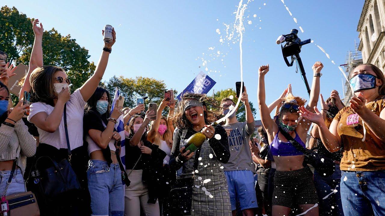 Celebrations in the US as Joe Biden wins Presidential Election