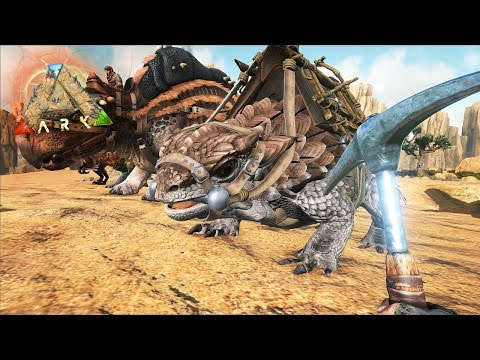ARK SCORCHED EARTH #7 - Farm de METAL E DOMEI UM THORNY DRAGON!