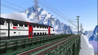 新VRM3★力行シリーズ54 スイス国鉄IC2000二階建て客車+Re460