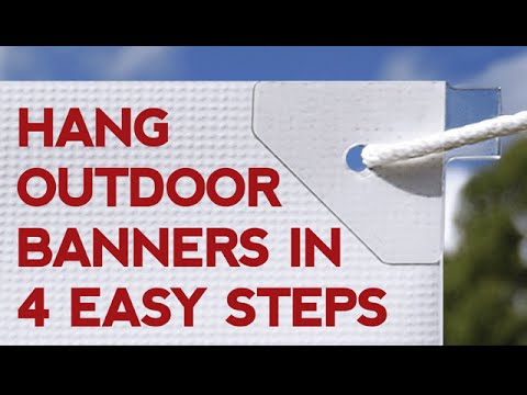 How To Hang A Banner In 4 Easy Steps Youtube