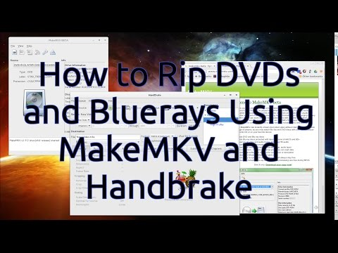 How to Rip DVDs and Bluerays Using MakeMKV and Handbrake