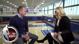 76ers president of basketball operations Bryan Colangelo speaks wit...