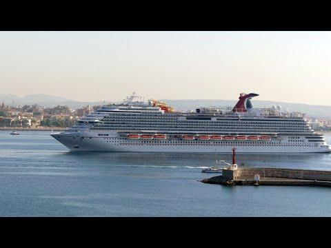 Carnival Vista Cruise Ship Arriving in Palma, Majorca