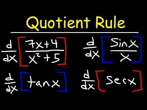 Quotient Rule For Derivatives