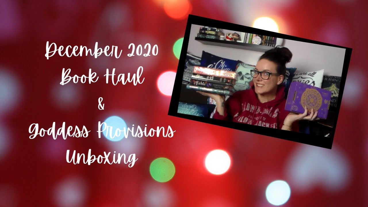 December 2020 Book Haul & Goddess Provisions Unboxing
