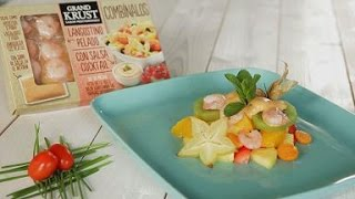 Seafood Combo By Grand Krust Recipe - Tropical Fruit Salad With Shrimp And Cocktail Sauce