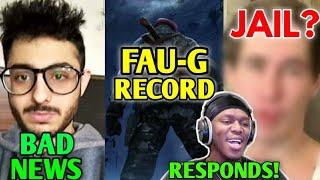 CarryMinati BAD NEWS!   FAU-G Record & Issue, Streamer To Be Jailed!, KSI Vs Jake Paul, KingAnBru  