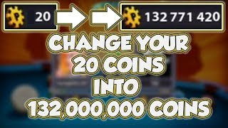 20 Coins To 132,000,000 Coins in 8 Ball Pool - Playing Only Berlin - K