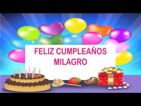 Milagro   Wishes & Mensajes - Happy Birthday