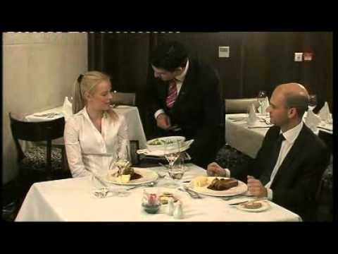 Silver service procedures - YouTube