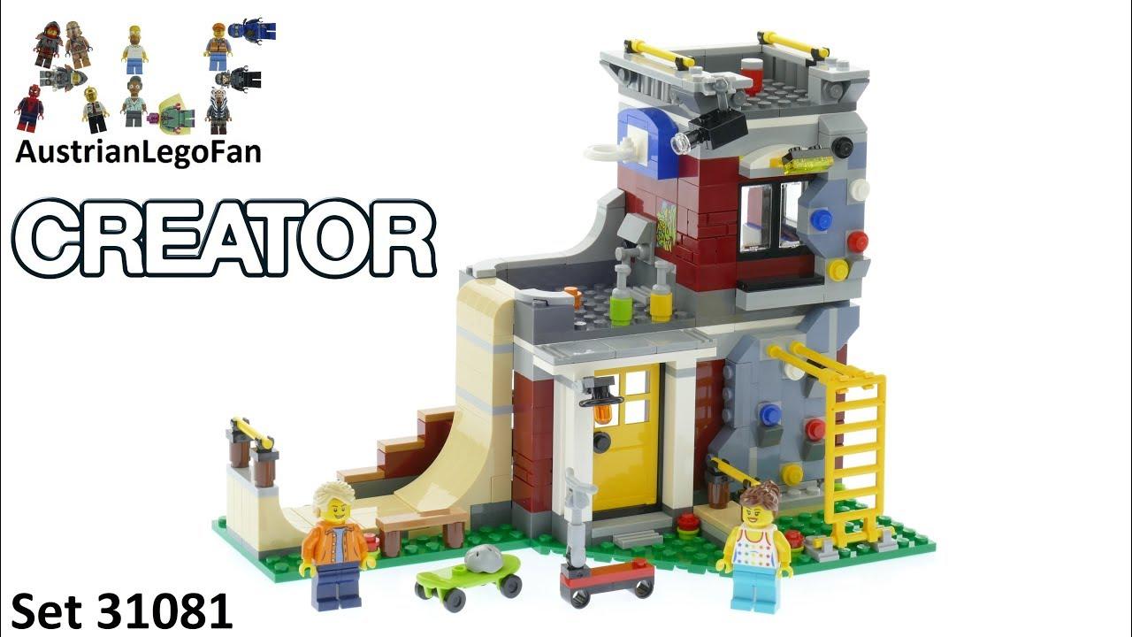 Lego Creator 31081 Modular Skate House - Lego Speed Build Review ...
