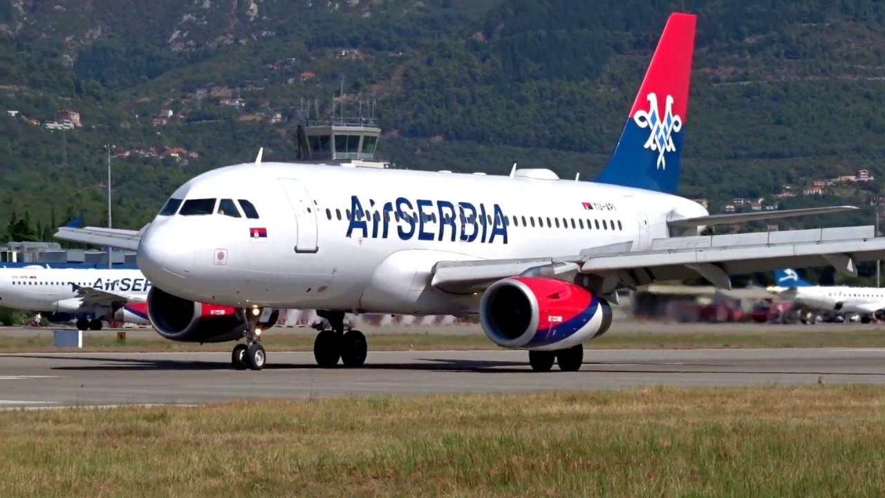 Avionske Karte Air Serbia.Air Serbia Airbus A319 In Action Tivat Airport