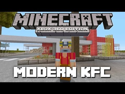 Minecraft kfc city build doovi for Tuto maison moderne minecraft xbox 360