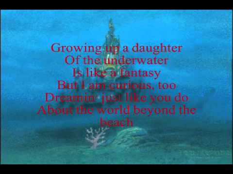 My little mermaid lyrics