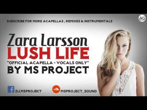 Zara Larsson - Lush Life (Official Studio Acapella - Vocals Only) + DL