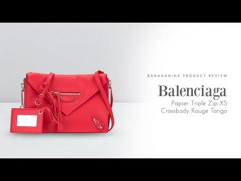 Bananananina Product Review: Balenciaga Papier Triple Zip XS Crossbody Rouge Tango