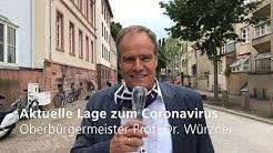 Coronavirus: OB Würzner zur aktuellen Lage in Heidelberg