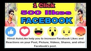 1 click 500 likes on facebook himzi liker