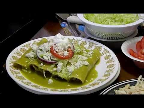 SUPER HEALTHY GREEN ENCHILADAS