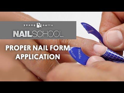 YN NAIL SCHOOL - PROPER NAIL FORM APPLICATION