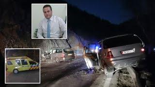 Pamje te frikshme nga aksidenti ku humbi jeten Ardian Vreto | ABC News Albania