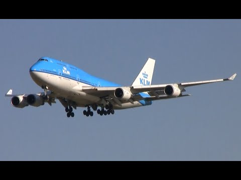 Plane spotting at Schiphol - 40 plane landings and take-offs (A380, 747, A330, 777 etc)