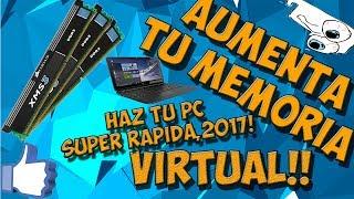 COMO AUMENTAR LA MEMORIA VIRTUAL DE TU PC PARA HACERLA 100 VECES MAS RAPIDA!!,2020!!