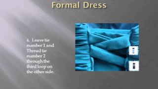Threading your Lace up back Formal Dress Thumbnail