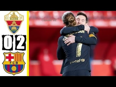 Elche vs. Barcelona - Football Match Report - January 24, 2021 ...