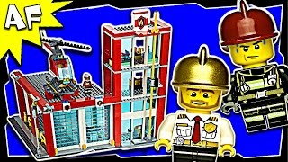 Lego City Fire Station 60004 Stop Motion Build Review