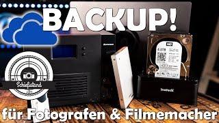 💾 Backup und Datensicherung 💻 für Fotografen und Filmemacher!