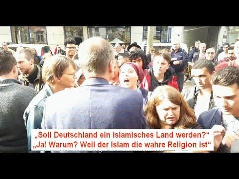 """Niemand hält den Islam auf"" - Moslemin in Offenbach bei BPE"