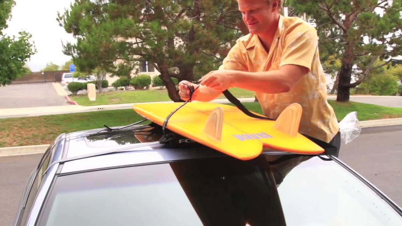 How To Put Soft Surfboard Racks On A Car Swell Youtube