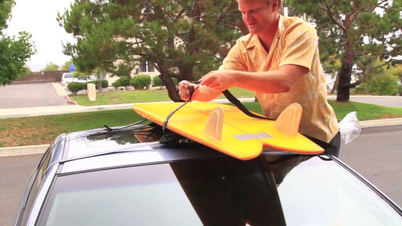 how to put soft surfboard racks on a car swell