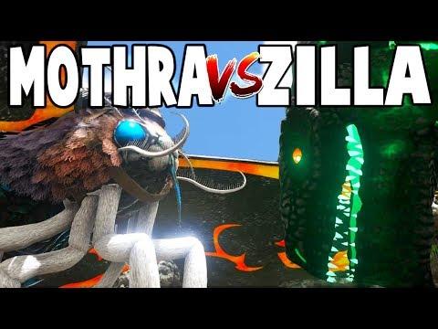 Ark Survival Evolved  MOTHRA VS GODZILLA! EPIC KAIJU BATTLE!  Gameplay